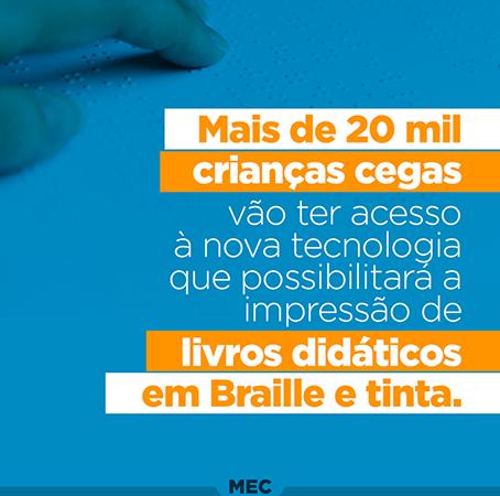 Educação – Nova tecnologia de livros em Braille e tinta amplia a educação inclusiva no Brasil