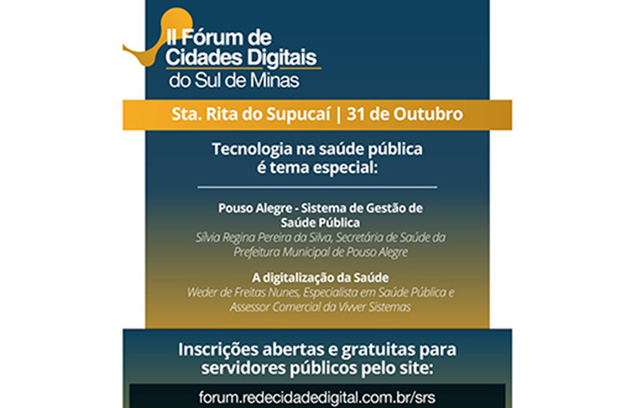 II Fórum de Cidades Digitais do Sul de Minas