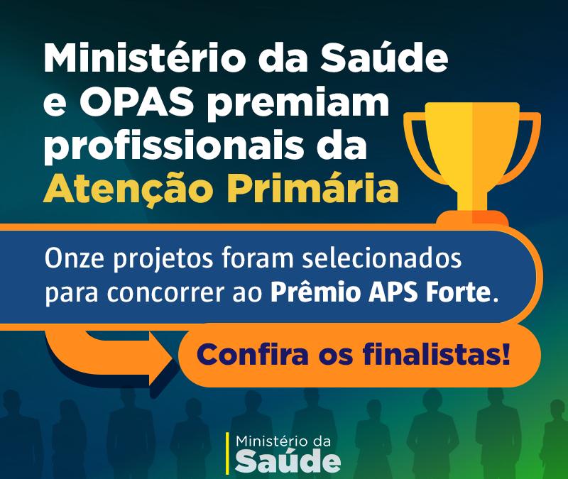Ministério da Saúde e OPAS premiam profissionais da Atenção Primária