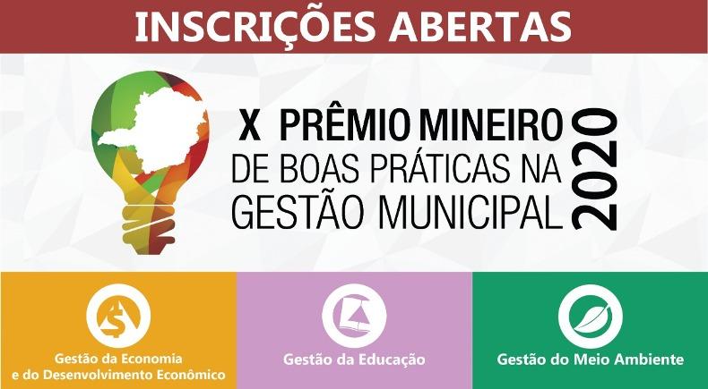 Prefeituras já podem se inscrever na 10ª edição do Prêmio Mineiro de Boas Práticas na Gestão Municipal