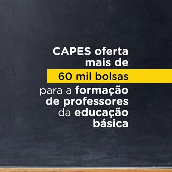 Educação básica – Capes dá mais prazo para adesão à oferta de mais de 60 mil bolsas de licenciatura