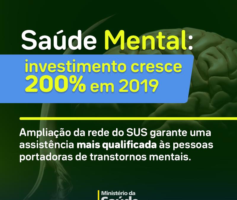 Saúde Mental: investimento cresce 200% em 2019