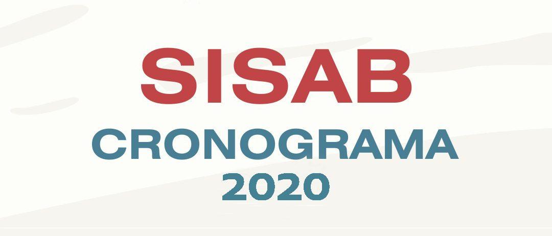 Cronograma de envio ao Sisab para 2020