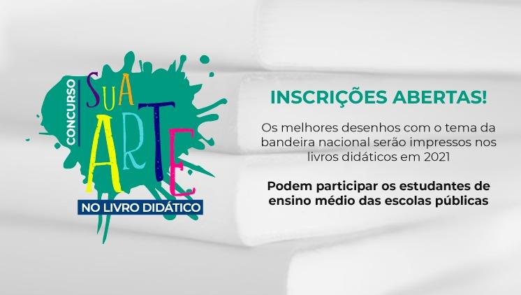 Educação Pública – Abertas inscrições para concurso de desenho da Bandeira Nacional em livros didáticos
