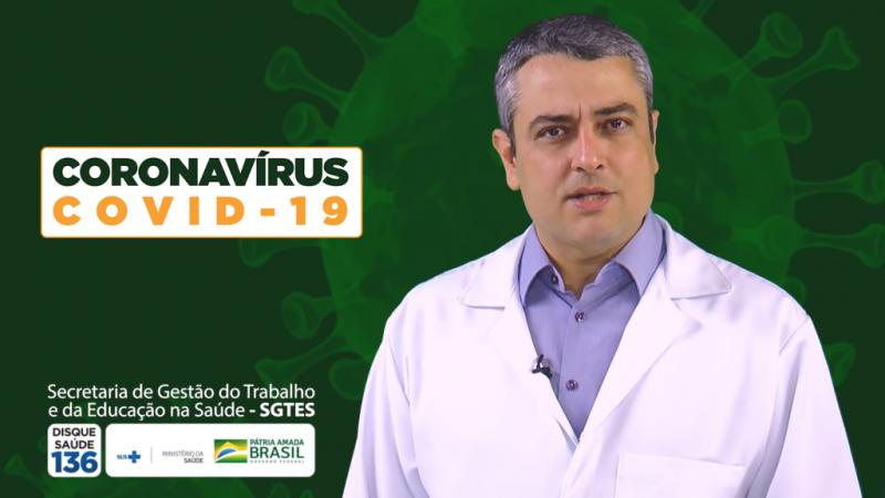 Coronavírus – Ministério da Saúde lança vídeos educacionais para profissionais de saúde